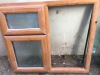 PVC window light wood grain