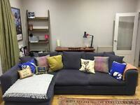 Large Navy Blue Sofa For Sale - Collection Only