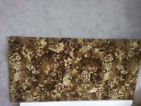 Rug. Lovely gold pattern. Hessian backed. AS New. 1370 x 690 mm. Collection only.NG6