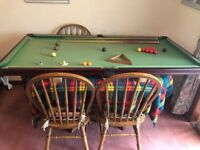 6X3 foot Snooker table with legs.