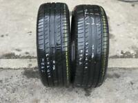 2 part worn tyres 215/50/17 MICHELIN PRINACY HP