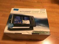 NEW Garmin echomap chirp 75sv chartplotter fishfinder preloaded maps fish finder chart plotter