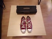 converse burgundy all star oxford trainers size 4 - perfect condition!