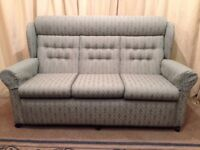 Sofa Green High Wing Back 3 Seater Sofa Settee Quality - See Delivery