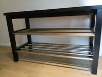 Bench with shoe storage