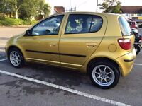 VERY RARE GOLD COLOUR TOYOTA YARIS LIKE MICRA CLIO WITH ONE YEAR NEW MOT ALLOY WHEEL POWER STREENG