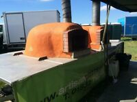 Double Wood Fired Pizza Oven Trailer plus fully equipped mobile kitchen & marquees