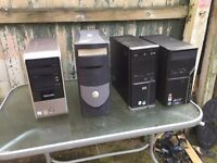 UNTESTED Job Lot Of 4 X PC Towers