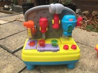 Chad valley works bench and toy story play phone