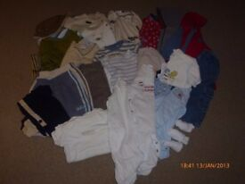 Assorted boys clothes - 6-9 months (Box 8)