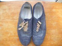 Men's Italian blue suede shoes, EU42/UK8