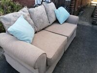 Large two seater sofa - pale greybeige