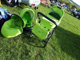Reduced Benetton 3 piece pram set
