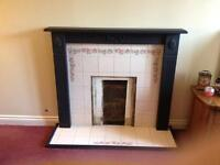 Mdf/ ceramic Fireplace and hearth