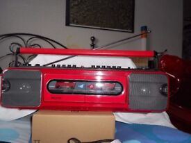 80's vintage/retro stereo cassette radio ghetto blaster/boombox