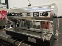 COMMERCIAL ESPRESSO COFFEE MACHINE 2 GROUP EXCELLENT CONDITION WITH WARRANTYFULLY REFURBISHED