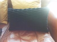 Black Velvet Textured Cushions