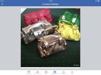 5 leather hand bags
