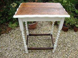 Antique/vintage Dark Oak barley twist table