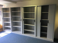 office furniture 2 meter tall tambour cupboards