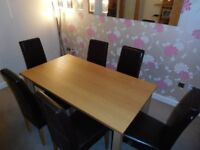 Solid Oak 5ft G-Plan Dining Table and 6 Chairs