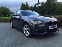 2014 64 REG BMW 1 SERIES 116d DIESEL M Sport GREY 5dr VERY LOW MILEAGE IMMACULATE