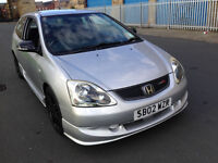 honda civic type r ep3 02 reg 2.0 6 speed silver 3 owners
