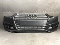 2016-2018 AUDI S4 A4 S-LINE BLACK EDITION COMPLETE FRONT BUMPER WITH GRILLS IN GREY for sale  Halifax, West Yorkshire