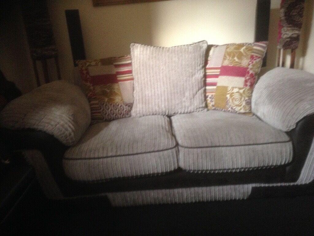 2Seater Chunky Grey Sofa