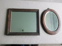 2 small vintage mirrors *REDUCED*