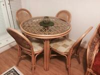 Daro Cane furniture: chairs tables and settee...BARGAIN
