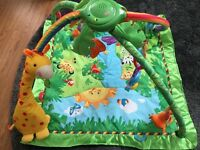 Fisher-Price Rainforest Melodies & Lights Deluxe Gym, Baby Play Mat,