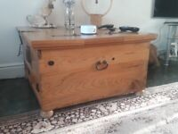 Barker and Stonehouse SOLID WOOD TRUNK COFFEE TABLE WITH STORAGE