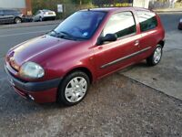 FORSALE 2000 W REG RENAULT CLIO ALIZE 1.4L PETROL MANUAL 3DR EXCELLENT CONDITION CHEAP RUNAROUND FSH