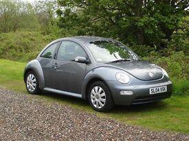 volkswagen beetle 1598cc matalic grey 04 plate 1495 no offers car is like brandnew