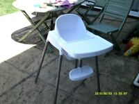 High Chair in White