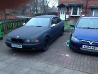 BMW 520i petrol Matt black mot august runs and drives swap or sale
