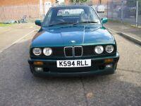 BMW 318I LUX CONVERTIBLE E30 75000 MILES 1993 K REG
