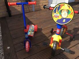Job lot for sale kids bike + scooter for sale £35