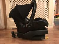 MaxiCosi car seat and EasyFix base. Free mothercare toy.