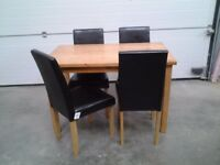 New Bargain Wooden Dining Table And 4 Chairs 1 Small Leg Mark As Shown