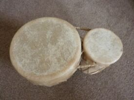 A little set of bongo drums, used, good condition.