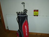 Golf Clubs Bag and pack of Golf Balls.