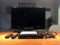 """Samsung LCD 26"""" TV + Free Sat HD Box"""