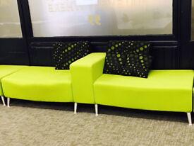 Commercial grade sofas (x3)
