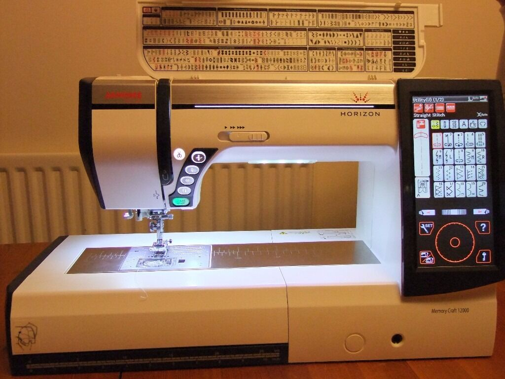 Janome memory craft 12000 - Janome Memory Craft 12000 Horizon Sewing Machine With Upgrades All Extras