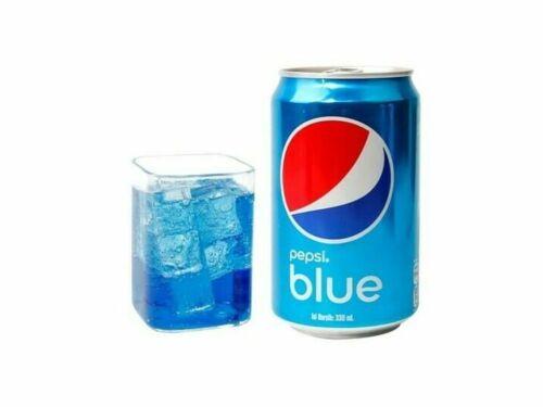 PEPSI BLUE - 330ML CAN - BLUE SODA RARE UNIQUE - EXOTIC POP - BLUEBERRY FLAVOUR