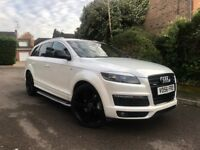 "AUDI Q7 WHITE S LINE FULL ABT KIT - 22"" GLOSS BLACK ALLOY WHEELS - FULL BLACK LEATHER"