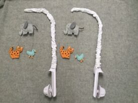 Animal mobile for baby cot