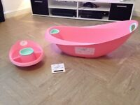 Pink butterfly baby bath set